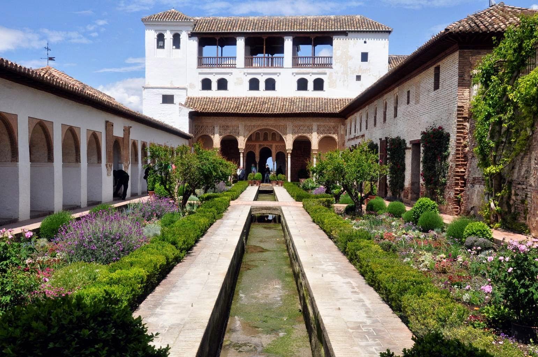 Informaci n de la alhambra y el generalife de granada for Jardin hispano mauresque
