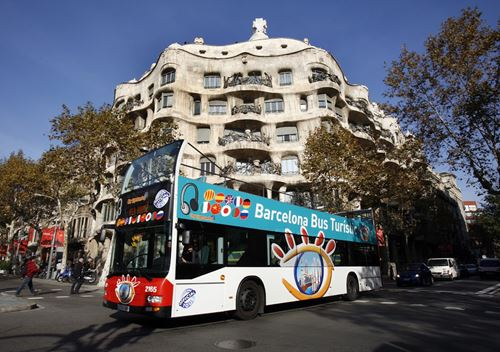 tour bus turístico Barcelona city sightseeing